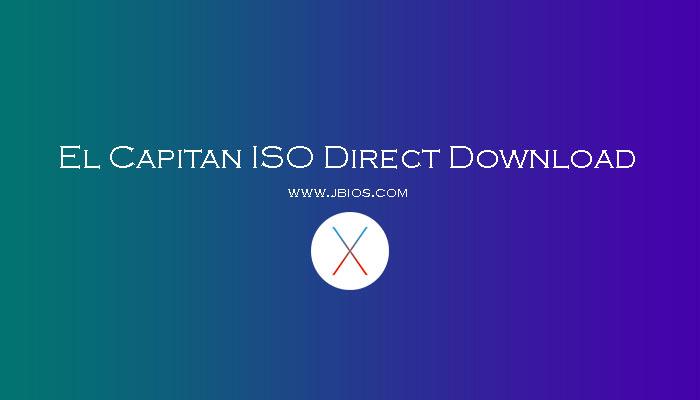 El Capitan ISO Direct Download